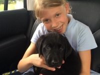 Annika and her pup Maize